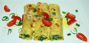 Cannelloni Emiliani mit Spinat-Ricottafüllung